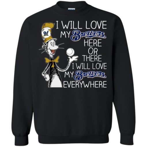 Dr Seuss I will love my Brewers here or there shirt - image 1627 510x510