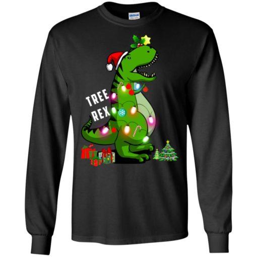 Christmas Tree T-Rex ugly sweatshirt shirt - image 168 510x510