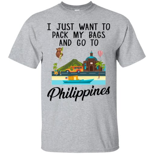 I just want to pack my bags and go to Philippines shirt - image 1691 510x510