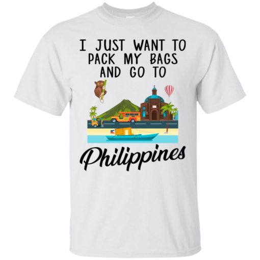 I just want to pack my bags and go to Philippines shirt - image 1692 510x510