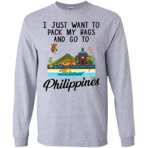 I just want to pack my bags and go to Philippines shirt - image 1693 510x510