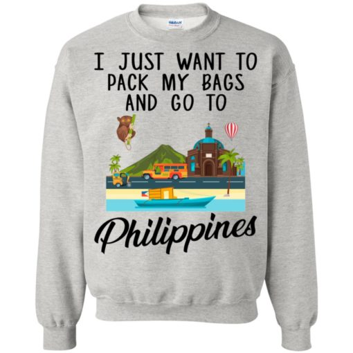 I just want to pack my bags and go to Philippines shirt - image 1697 510x510