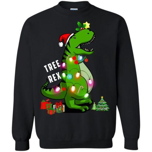 Christmas Tree T-Rex ugly sweatshirt shirt - image 171 510x510