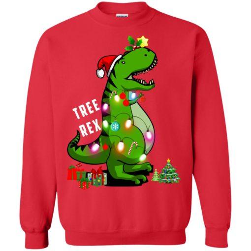 Christmas Tree T-Rex ugly sweatshirt shirt - image 173 510x510