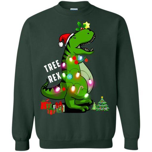 Christmas Tree T-Rex ugly sweatshirt shirt - image 174 510x510