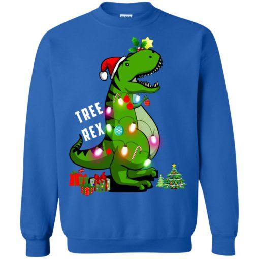 Christmas Tree T-Rex ugly sweatshirt shirt - image 175 510x510