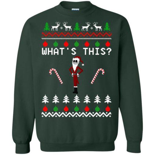 Jack Skellington what's this Christmas sweatshirt shirt - image 2087 510x510