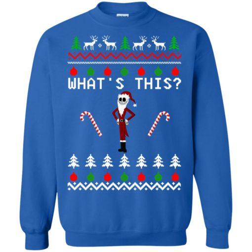 Jack Skellington what's this Christmas sweatshirt shirt - image 2088 510x510