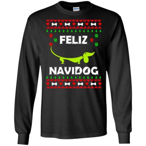 Dachshund Feliz Navidog Christmas sweater shirt - image 2161 510x510
