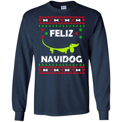 Dachshund Feliz Navidog Christmas sweater shirt - image 2162 510x510