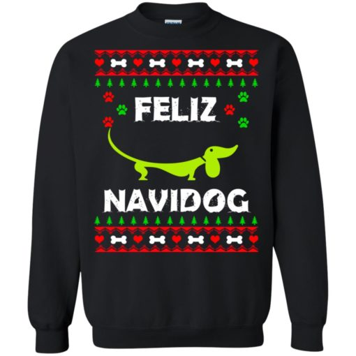 Dachshund Feliz Navidog Christmas sweater shirt - image 2164 510x510
