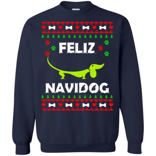 Dachshund Feliz Navidog Christmas sweater shirt - image 2165 510x510
