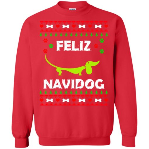 Dachshund Feliz Navidog Christmas sweater shirt - image 2166 510x510