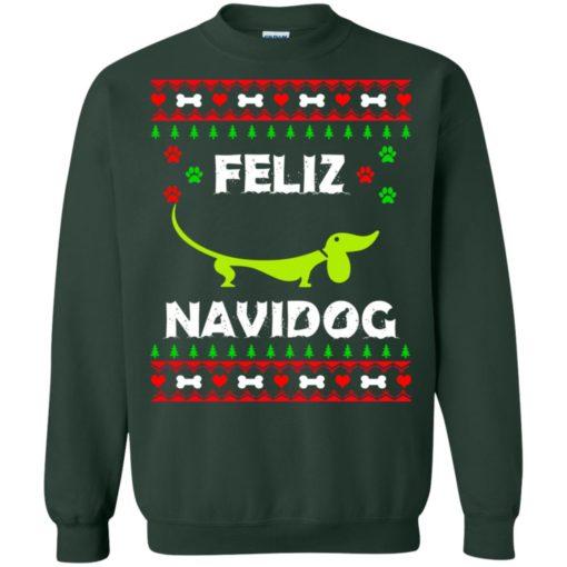 Dachshund Feliz Navidog Christmas sweater shirt - image 2167 510x510