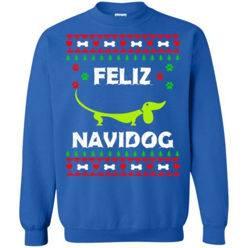 Dachshund Feliz Navidog Christmas sweater shirt - image 2168 510x510
