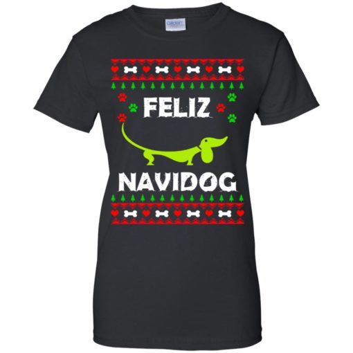 Dachshund Feliz Navidog Christmas sweater shirt - image 2169 510x510