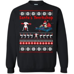 Santa's Twerkshop Christmas Sweater shirt - image 2462 247x247