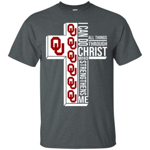 University of OklahomaI can do all things through Christ who strengthens me shirt - image 2999 510x510