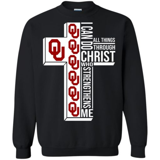 University of OklahomaI can do all things through Christ who strengthens me shirt - image 3002 510x510