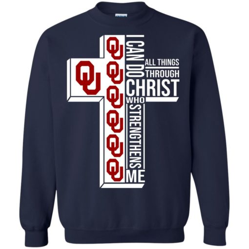 University of OklahomaI can do all things through Christ who strengthens me shirt - image 3003 510x510