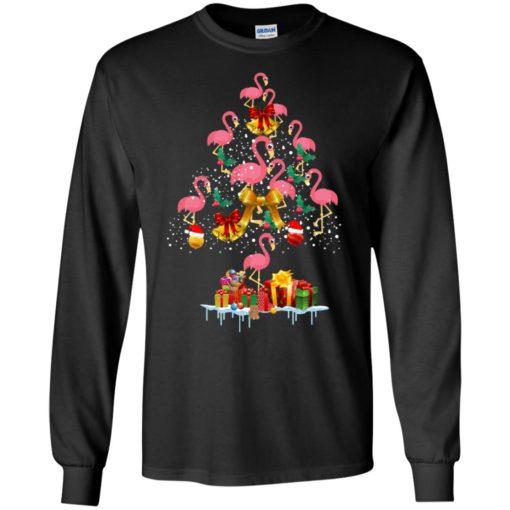 Flamingo Christmas Tree Sweater shirt - image 3081 510x510