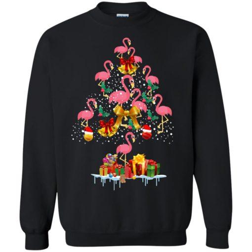 Flamingo Christmas Tree Sweater shirt - image 3083 510x510