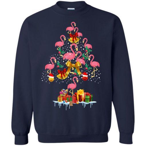 Flamingo Christmas Tree Sweater shirt - image 3084 510x510