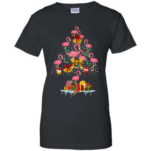 Flamingo Christmas Tree Sweater shirt - image 3085 510x510