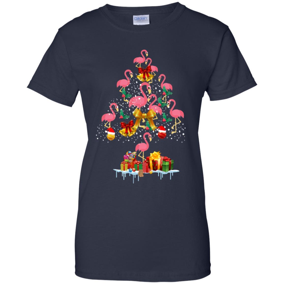 Flamingo Christmas Tree Sweater - NextlevelA