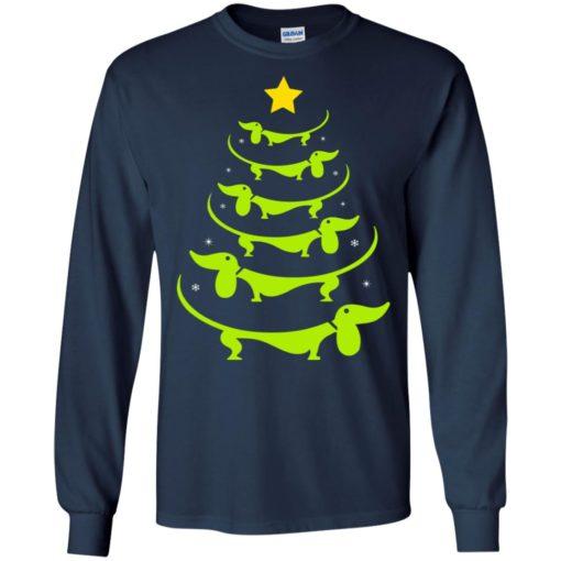 Dachshund Christmas tree ugly sweatshirt shirt - image 3323 510x510