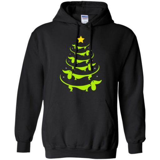 Dachshund Christmas tree ugly sweatshirt shirt - image 3324 510x510