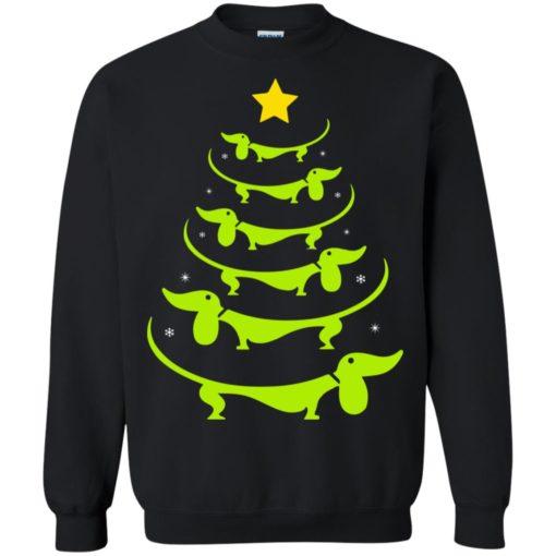 Dachshund Christmas tree ugly sweatshirt shirt - image 3325 510x510