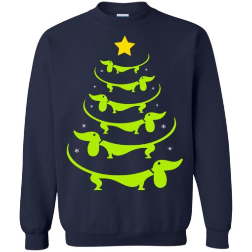 Dachshund Christmas tree ugly sweatshirt shirt - image 3326 510x510