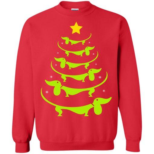 Dachshund Christmas tree ugly sweatshirt shirt - image 3327 510x510