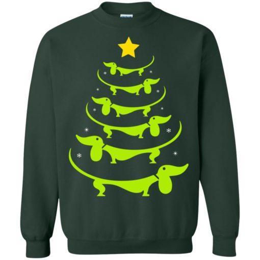 Dachshund Christmas tree ugly sweatshirt shirt - image 3328 510x510