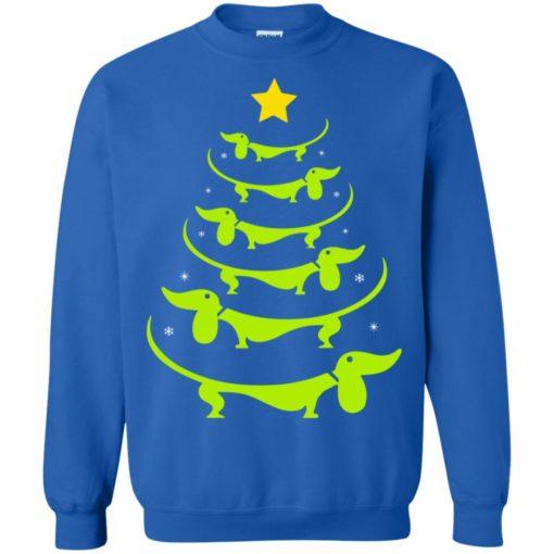 Dachshund Christmas tree ugly sweatshirt shirt - image 3329 510x510