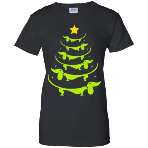 Dachshund Christmas tree ugly sweatshirt shirt - image 3330 510x510