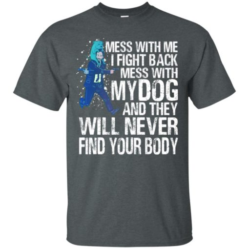 Keanu reeves Mess with me I fight back mess with my dog shirt - image 4011 510x510