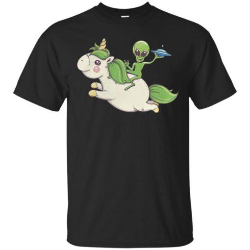 Alien riding unicorn shirt - image 4090 510x510