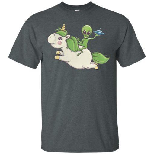 Alien riding unicorn shirt - image 4092 510x510