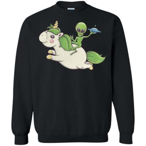 Alien riding unicorn shirt - image 4095 510x510