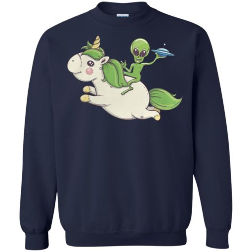 Alien riding unicorn shirt - image 4096 510x510