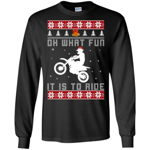 Motocross oh what fun it is to ride Christmas sweater shirt - image 4119 510x510