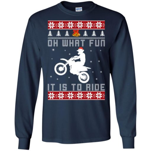Motocross oh what fun it is to ride Christmas sweater shirt - image 4120 510x510