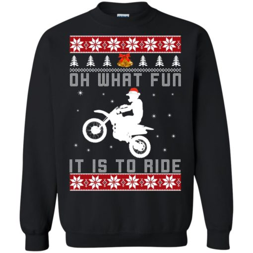 Motocross oh what fun it is to ride Christmas sweater shirt - image 4122 510x510