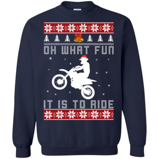 Motocross oh what fun it is to ride Christmas sweater shirt - image 4123 510x510