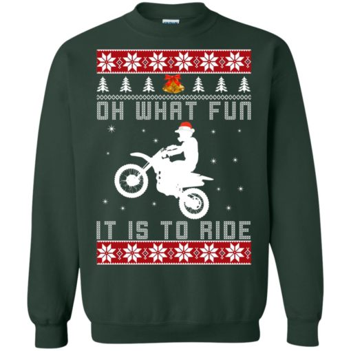 Motocross oh what fun it is to ride Christmas sweater shirt - image 4125 510x510