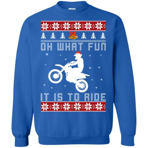 Motocross oh what fun it is to ride Christmas sweater shirt - image 4126 510x510