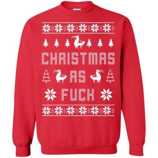 Humping deer Christmas as fuck Christmas sweater shirt - image 4134 510x510