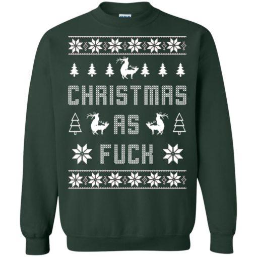 Humping deer Christmas as fuck Christmas sweater shirt - image 4135 510x510